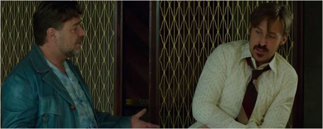 Exclusivo: Clipe de Dois Caras Legais mostra 'pequeno desentendimento' entre Russell Crowe e Ryan Gosling