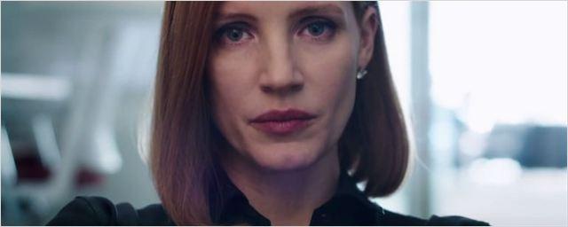 Jessica Chastain é uma lobista poderosa no trailer de Miss Sloane