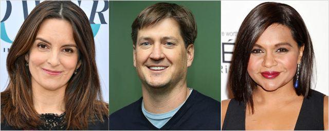 Tina Fey, Bill Lawrence e Mindy Kailing emplacam pilotos de comédias na NBC