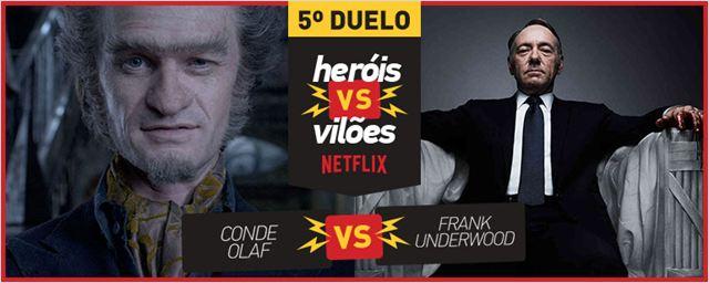 VideoFight Heróis vs Vilões: O combate da primeira semifinal é entre Conde Olaf e Frank Underwood