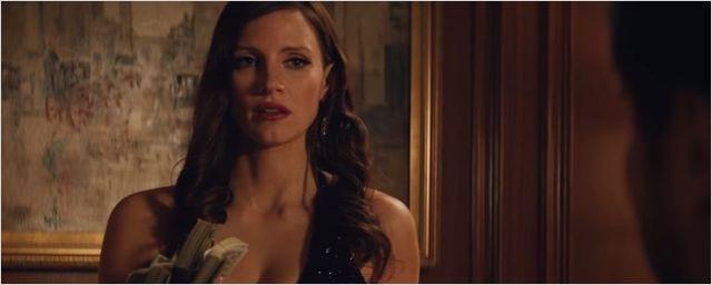 Jessica Chastain é a rainha da jogatina no trailer de Molly's Game