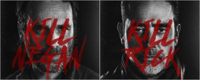 The Walking Dead: Rick e Negan caçam um ao outro nos cartazes de retorno da oitava temporada