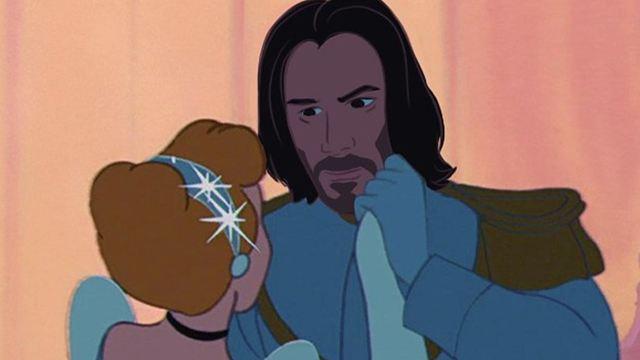 Já imaginou se Keanu Reeves fosse um príncipe da Disney?