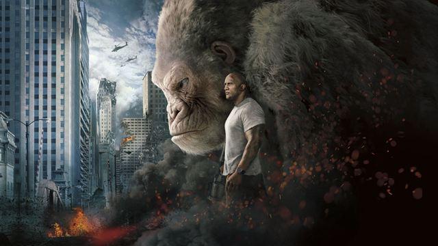 Cinema Especial na Globo: Rampage - Destruição Total traz The Rock e gorila gigante tentando salvar o mundo