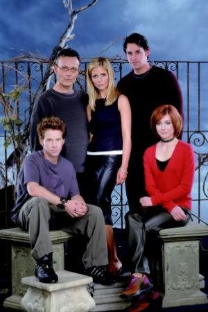Buffy, a Caça-Vampiros : Foto Alyson Hannigan, Anthony Head, Nicholas Brendon, Sarah Michelle Gellar, Seth Green