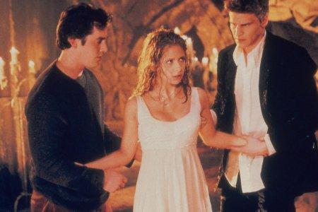 Buffy, a Caça-Vampiros : Foto David Boreanaz, Nicholas Brendon, Sarah Michelle Gellar