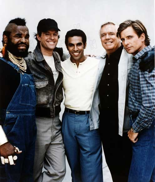 Esquadrão Classe A : Foto Dirk Benedict, Dwight Schultz, Eddie Velez, George Peppard, Mr. T