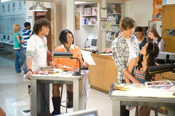 High School Musical 3 - Ano da Formatura : Foto Corbin Bleu, Kenny Ortega, Monique Coleman, Vanessa Hudgens, Zac Efron
