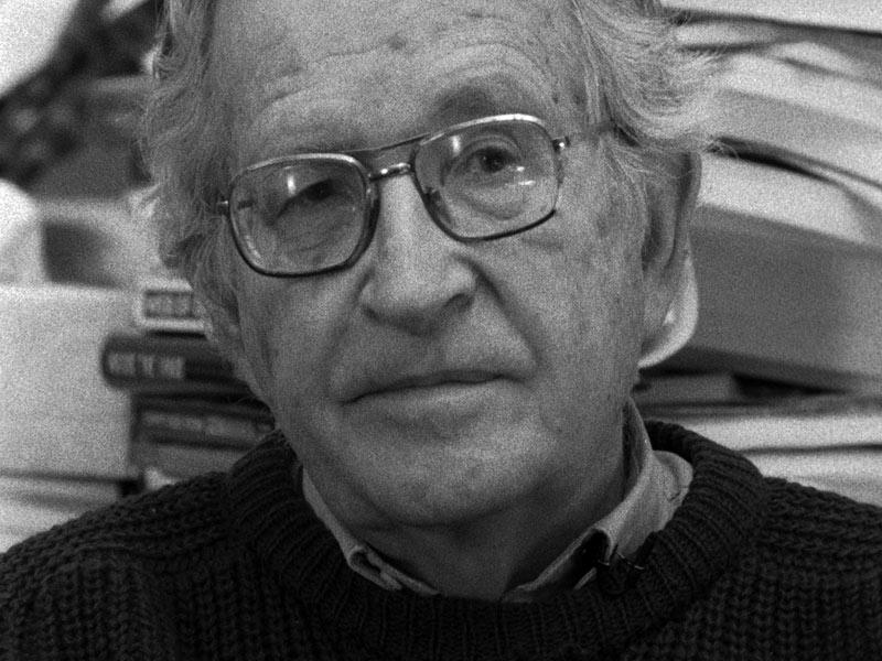 L'Encerclement : Foto Noam Chomsky, Richard Brouillette
