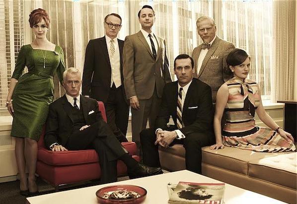 Mad Men : Foto Christina Hendricks, Elisabeth Moss, Jared Harris, John Slattery, Jon Hamm