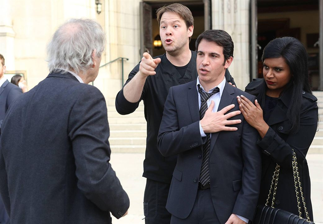 Foto Chris Messina, Ike Barinholtz, Mindy Kaling