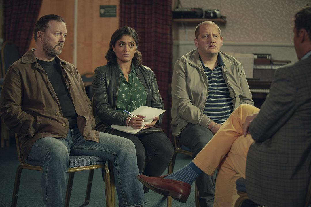 Foto Mandeep Dhillon, Ricky Gervais, Tony Way