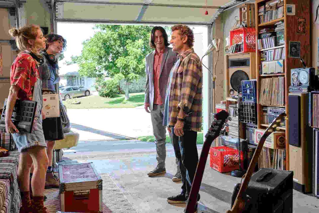 Bill & Ted: Encare a Música : Foto Alex Winter, Brigette Lundy-Paine, Keanu Reeves, Samara Weaving